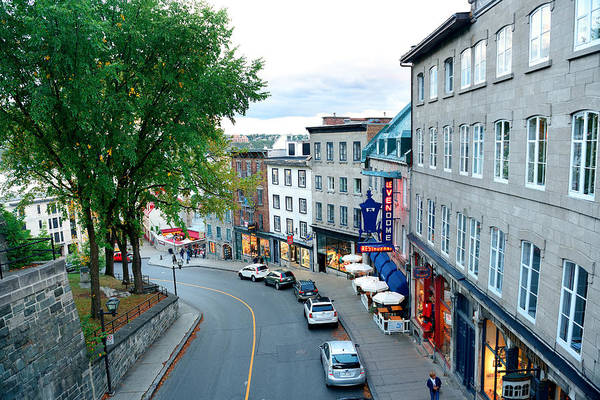 Photograph - Quebec City Street View by Songquan Deng