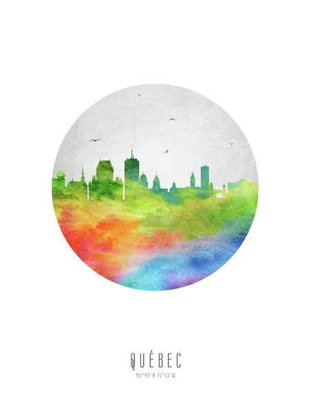 Quebec City Digital Art - Quebec Skyline Caqcqc20 by Aged Pixel