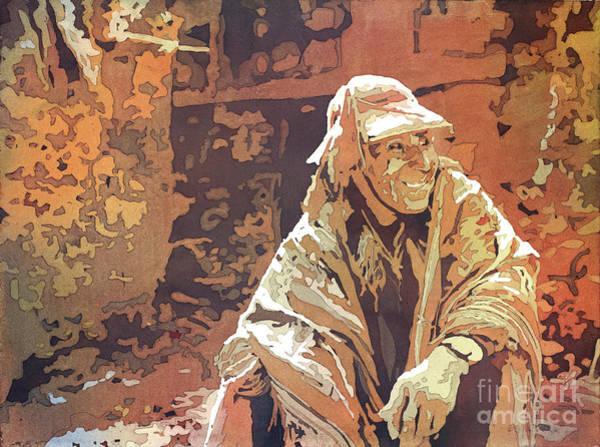 Wall Art - Painting - Quechua Man- Peru by Ryan Fox