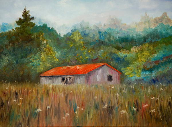 Painting - Queen Anne Lace Farm by Phil Burton
