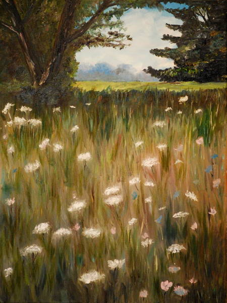 Painting - Queen Anne Lace by Phil Burton