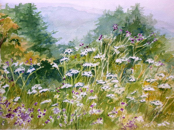 Painting - Queen Anne's Lace by Anna Jacke