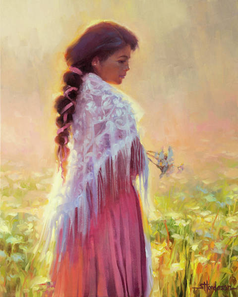 Background Painting - Queen Anne's Lace by Steve Henderson