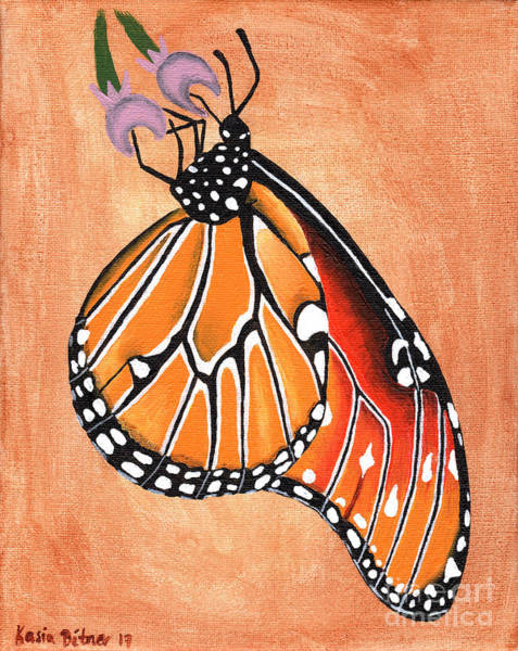 Wall Art - Painting - Queen Butterfly by Kasia Bitner