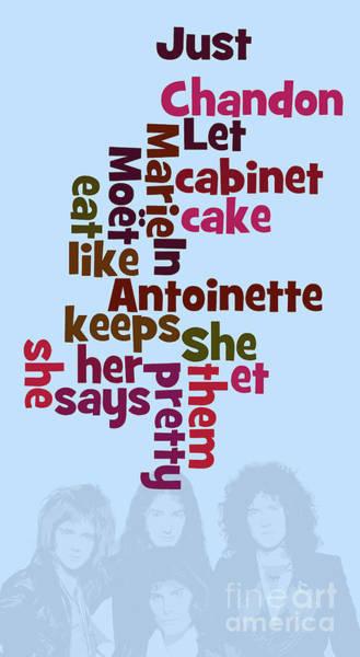 Et Digital Art - Queen. Can You Order The Lyrics? Killer Queen. by Drawspots Illustrations