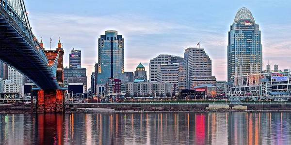 Wall Art - Photograph - Queen City At Dusk by Frozen in Time Fine Art Photography