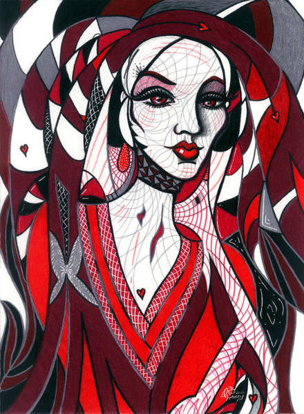Drawing - Queen by Danielle R T Haney