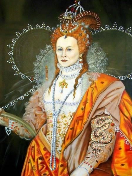 Queen Elizabeth After Oliver Art Print