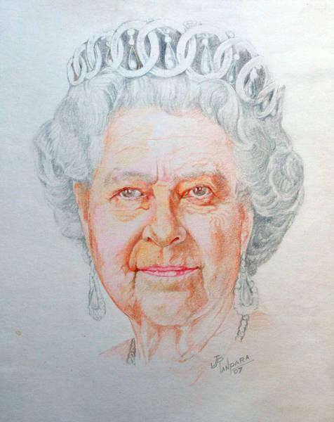 Saint Lucia Painting - Queen Elizabeth II by Jayantilal Ranpara