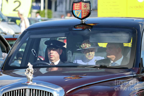 Photograph - Queen Elizabeth In The Royal Bentley by Julia Gavin
