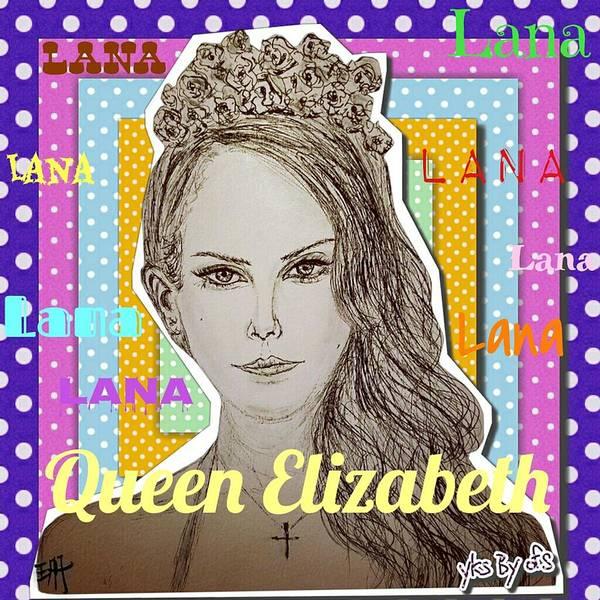 Dope Mixed Media - Queen Elizabeth - Lana by Evelyn Yu