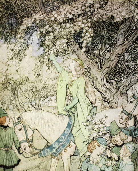 Reach Painting - Queen Guinevere by Arthur Rackham