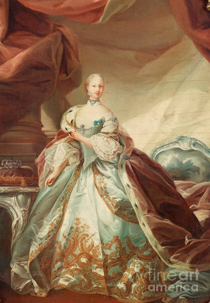 Wall Art - Painting - Queen Juliane Marie Of Denmark by Celestial Images