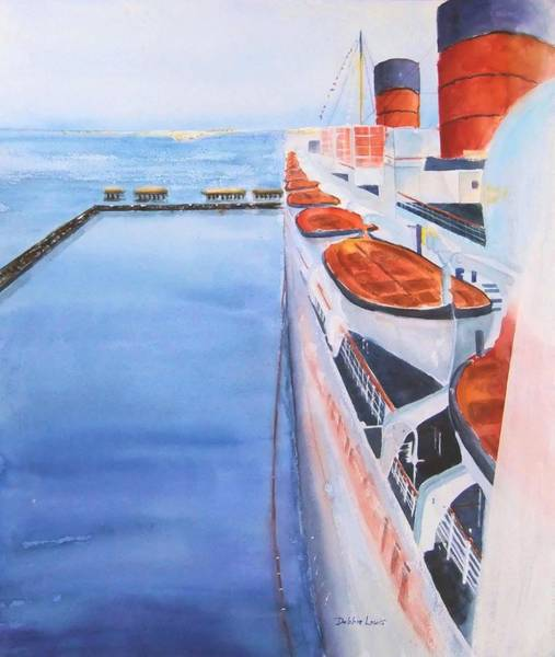 Painting - Queen Mary From The Bridge by Debbie Lewis