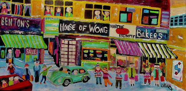 Wall Art - Painting - Queen Mary Road Shopping House Of Wong 1972 by Michael Litvack