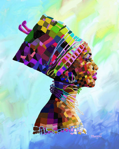 Wealth Painting - Queen Nefertiti by Anthony Mwangi