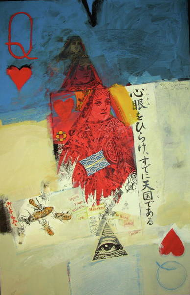 Transfer Mixed Media - Queen Of Hearts 40-52 by Cliff Spohn