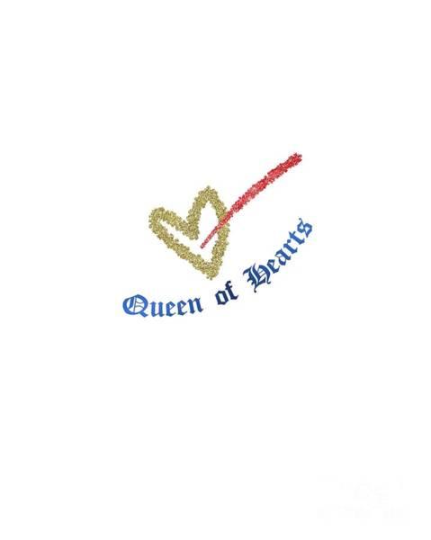 Digital Art - Queen Of Hearts by Edmund Nagele