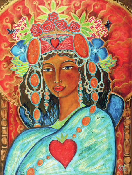 Wall Art - Painting - Queen Of Her Own Heart by Shiloh Sophia McCloud
