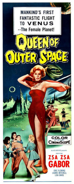 Wall Art - Painting - Queen Of Outer Space by Long Shot