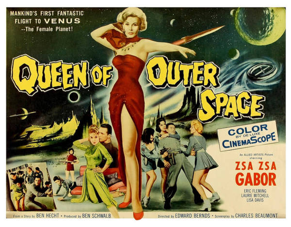 Wall Art - Painting - Queen Of Outer Space, Old Sci-fi Movie by Long Shot