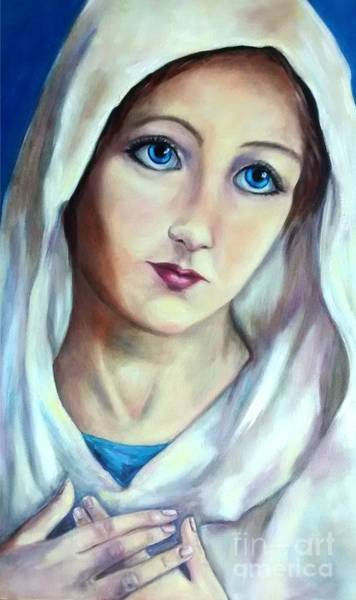 Immaculate Conception Wall Art - Painting - Mary Queen Of Peace by Laura Napoli