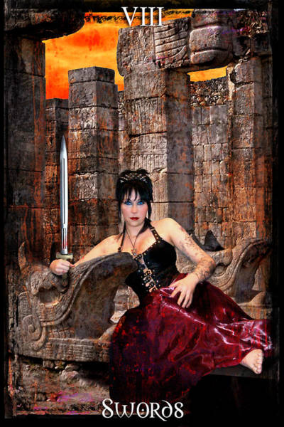 Regal Digital Art - queen of Swords by Tammy Wetzel