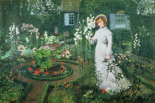 Victorian Garden Wall Art - Painting - Queen Of The Lilies by John Atkinson Grimshaw