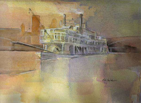 Riverboat Painting - Queen Of The Mon by Robert Yonke