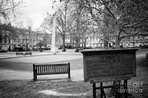 Queens Bath Photograph - Queen Square Garden And Obelisk Bath Erected By Beau Nash In Honour Of Frederick Prince Of Wales Eng by Joe Fox