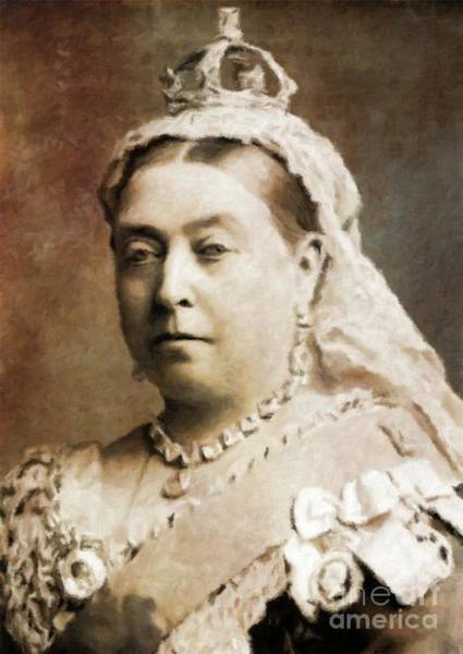 Great Britain Painting - Queen Victoria, History Portraits By Mary Bassett by Mary Bassett
