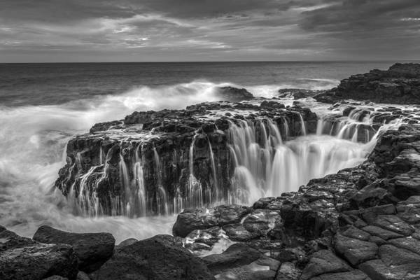 Photograph - Queens Bath Kauai Bw by Pierre Leclerc Photography