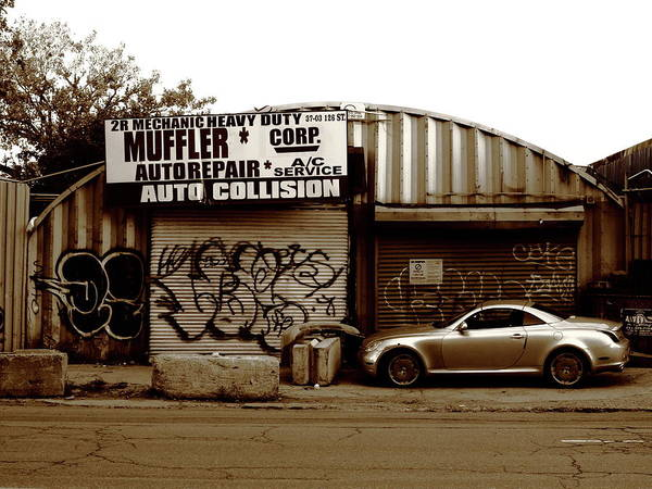 Photograph - Queens Chop Shop 2017 Sepia by Frank Romeo