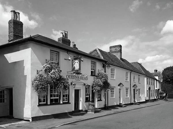 Photograph - Queens Head Knight Street Sawbridgeworth In Black And White by Gill Billington