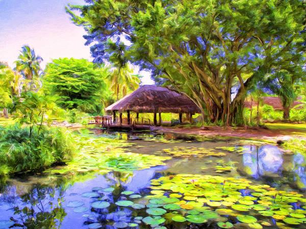 Fatu Hiva Wall Art - Painting - Queen's Pond Tahiti by Dominic Piperata