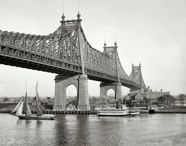 Wall Art - Photograph - Queensboro Bridge - 1910 by Mountain Dreams