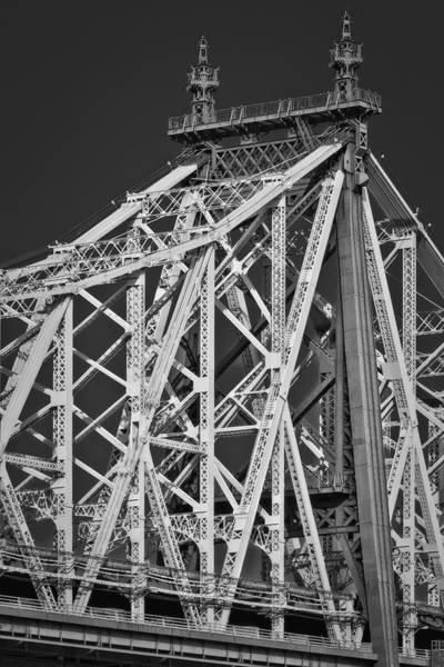 Roosevelt Island Wall Art - Photograph - Queensboro Ed Koch Bridge Bw by Susan Candelario