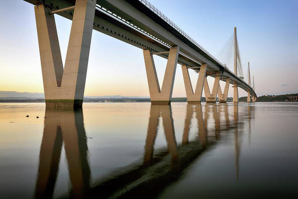 Photograph - Queensferry Crossing 3 by Grant Glendinning