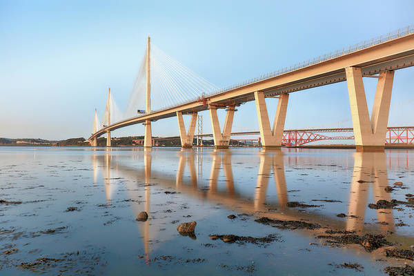 Photograph - Queensferry Crossing 5 by Grant Glendinning