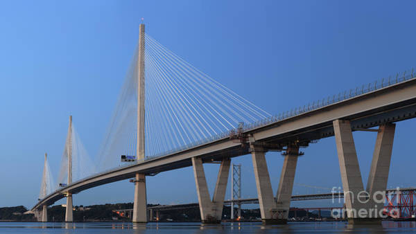 Photograph - Queensferry Crossing In Panorama by Maria Gaellman