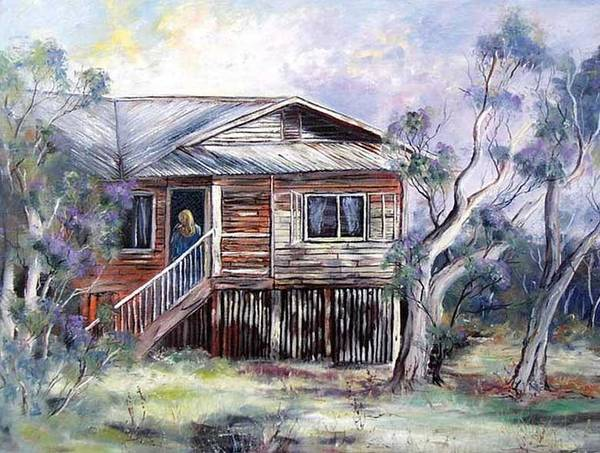 Painting - Queenslander Style House, Cloncurry. by Ryn Shell
