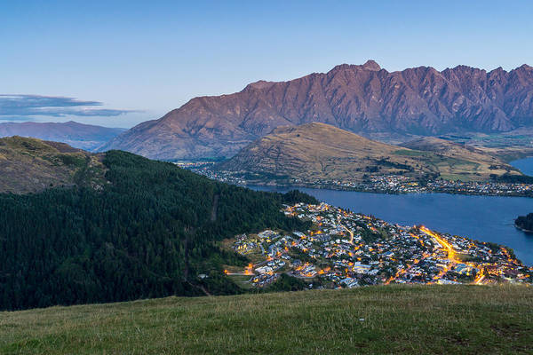 Photograph - Queenstown At Dusk by James Udall