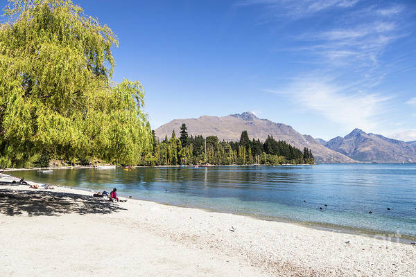Photograph - Queenstown Beach On Lake Wakatipu In New Zealand by Didier Marti