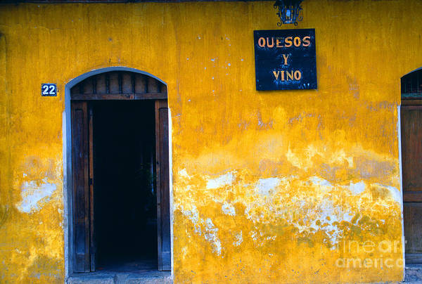 Photograph - Quesos Y Vino La Antigua by Thomas R Fletcher