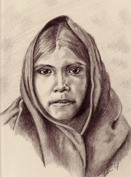 Drawing - Quhatika Girl by Toon De Zwart