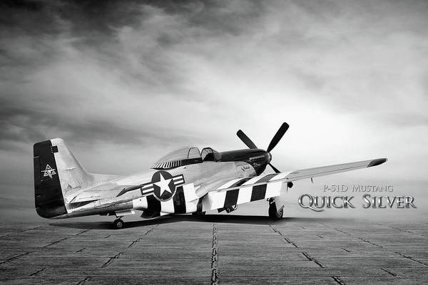 Quick Digital Art - Quick Silver P-51 by Peter Chilelli