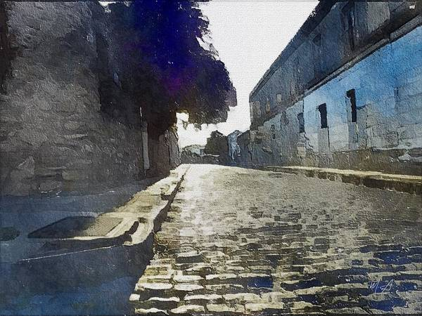 Painting - Quiet Cobbled Street by Mark Taylor