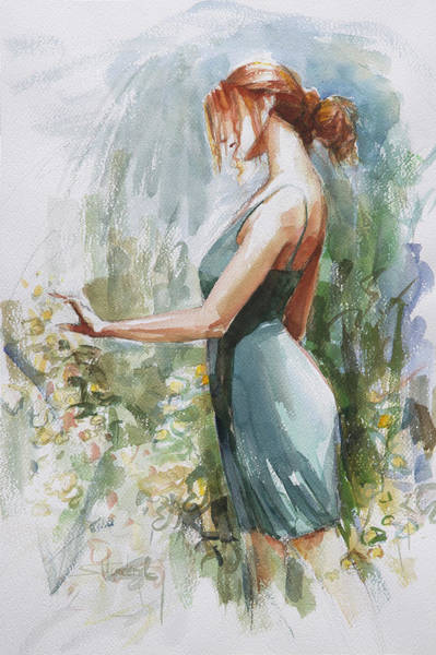 Delicate Painting - Quiet Contemplation by Steve Henderson