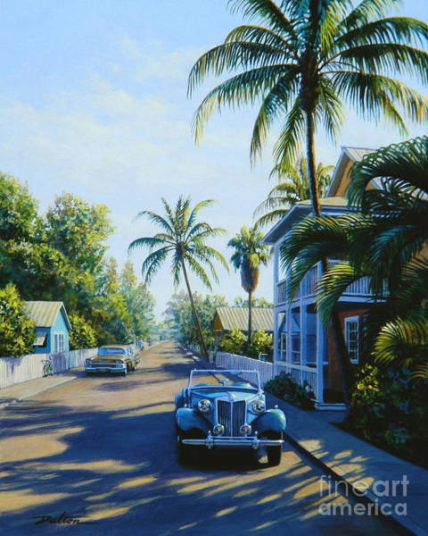 Florida City Painting - Quiet Day Key West by Frank Dalton