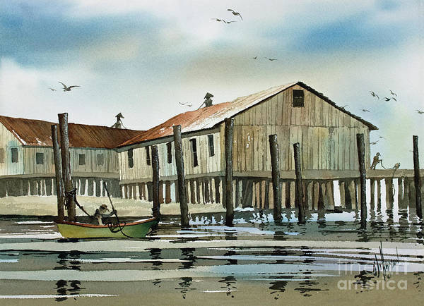 Wall Art - Painting - Quiet Harbor by James Williamson